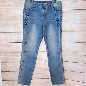 INC International Concepts Accent Skinny Jeans 10P